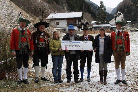 HJNF Luesen 480x320 Herz Jesu Notfonds unterstützt Schützenkamerad Albin Mellauner